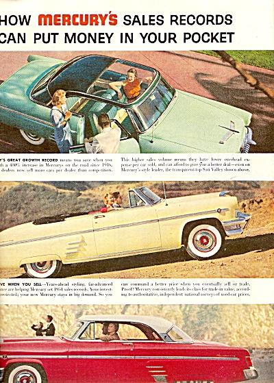 Lincoln Mercury  auto ad 1954 (Image1)