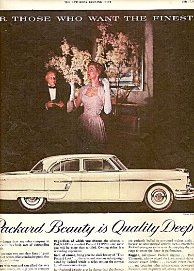 Packard Automobile Ad 1954