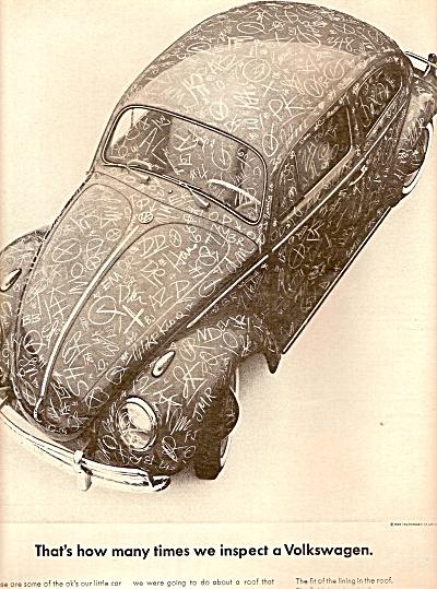 Volkswagen ad 1963 GRAFFITI (Image1)