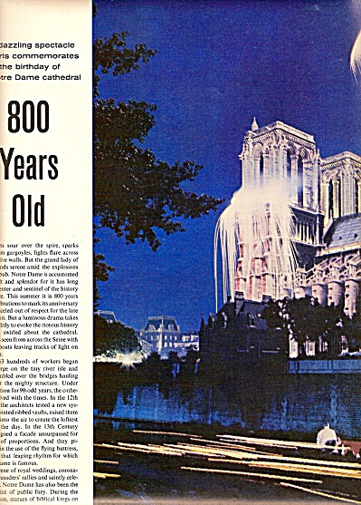 Notre Dame  Cathedral 800- years old 1963 (Image1)