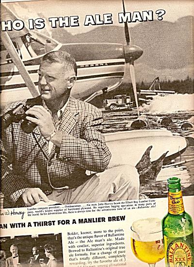 Ballantine Ale ad 1963 ELLIOTT BAY Lumber Compan (Image1)