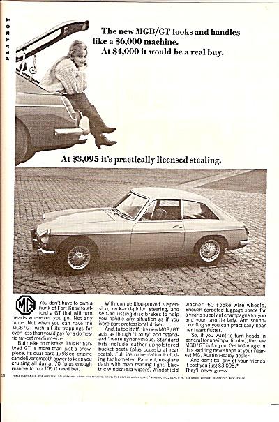 MGB/GT  auto ad 1967 (Image1)