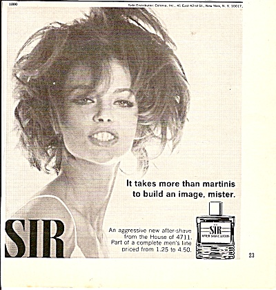 SIR  after shaving lotion ad 1967 (Image1)