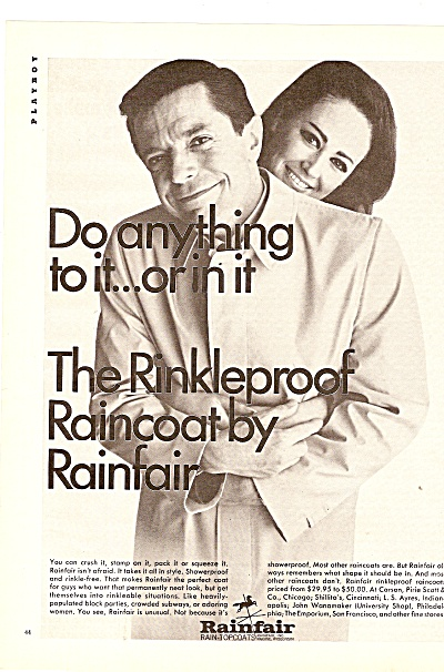 Rainfair Raincoat Ad 1967