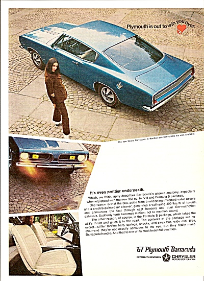 Plymnouth Barracuda For 1967 Ad