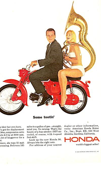 Honda motorcycle ad 1964 (Image1)