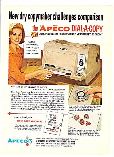 Apeco dial a copy ad 1964 (Image1)