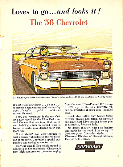 Chevrolet Bel  air sport sedan ad 1956 (Image1)