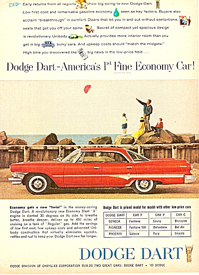 Dodge Dart ad 1960 RED CAR (Image1)