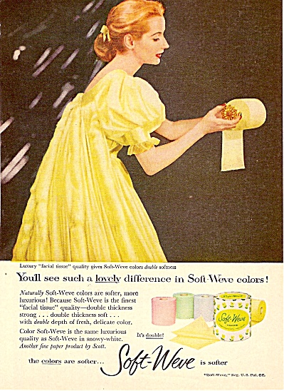 Soft Weve tissues ad 1956 (Image1)
