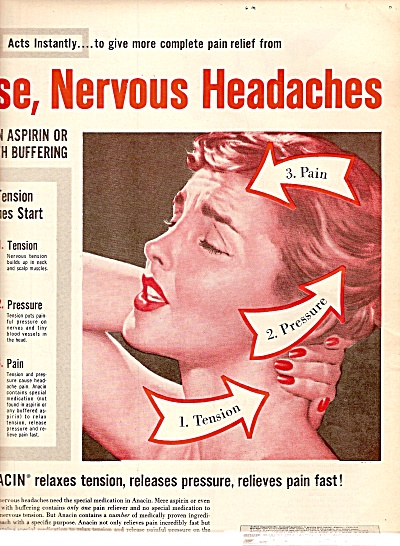 Anacin tablets for fast pain relief ad 1960 (Image1)