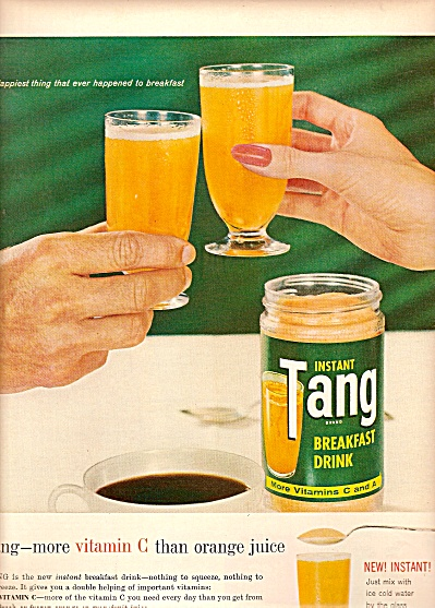 Instant Tang Breakfast Drink Ade 1960