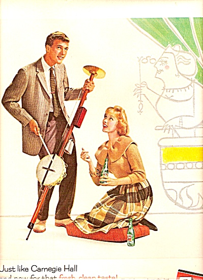 7-up Drink Ad 1960