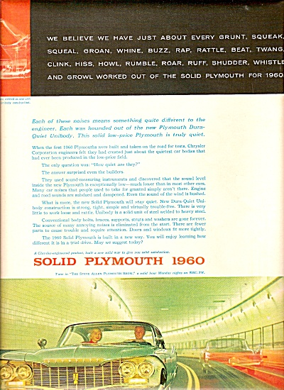 Plymouth auto ad 1960 (Image1)