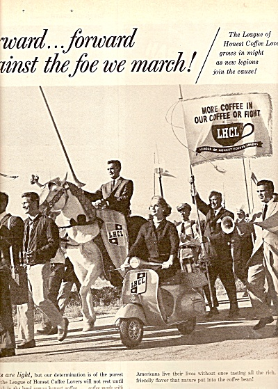 League of honest coffee lovers ad 1960 (Image1)
