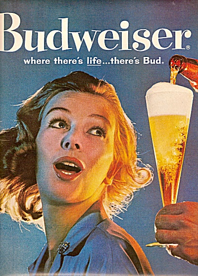Budweiser beer ad 1960 (Image1)