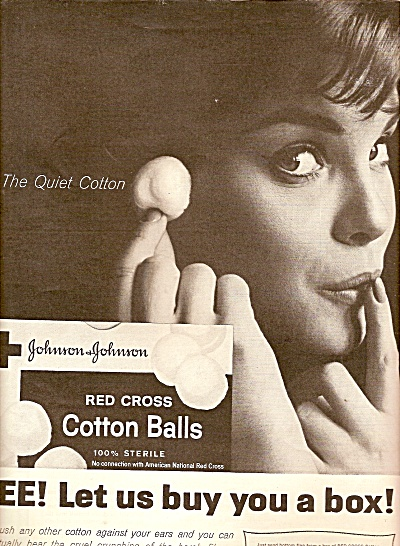 Johnson & Johnson red cross cotton balls ad 1961 (Image1)