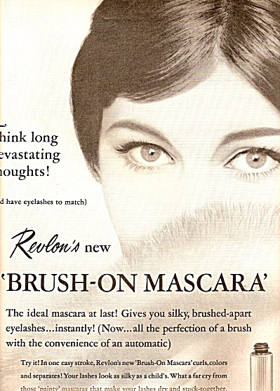 Revlons Brush on mascara ad 1961 (Image1)
