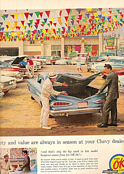 Chevrolet Ok Used Cars Ad 1961