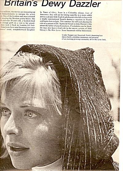 SUSANNAH YORK  - Britains dewy dazzler 1961 (Image1)