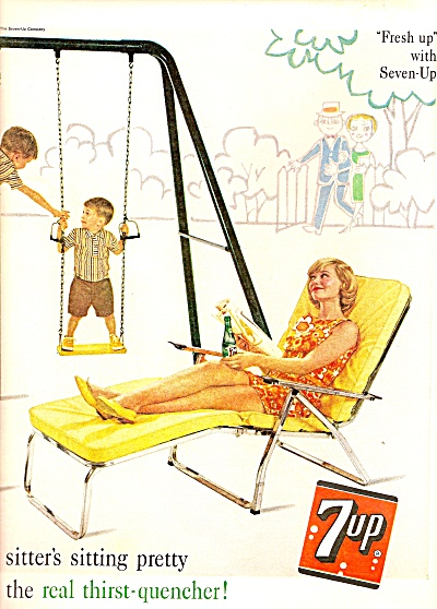 7 Up Drink Ad 1961