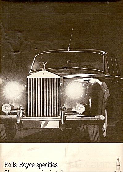 Champion spark plugs - ROLLS ROYCE  ad 1961 (Image1)