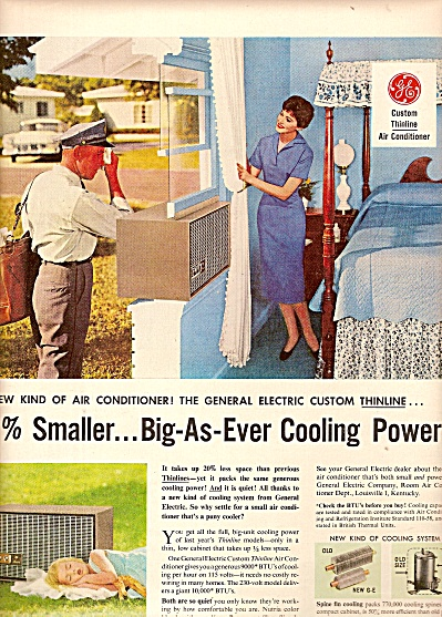 General electric air conditioner ad 1958 (Image1)