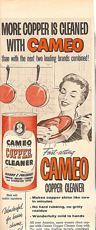 Cameo Copper Cleaner Ad 1958