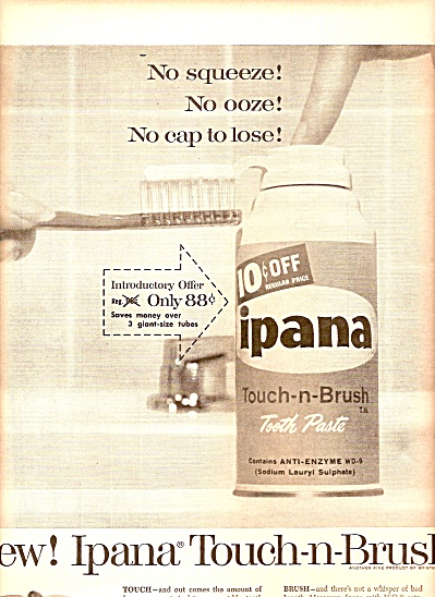 Ipana tooth paste ad 1958 (Image1)