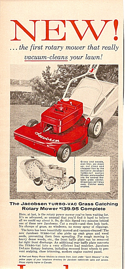Jacobsen lawn mower ad 1958 (Image1)