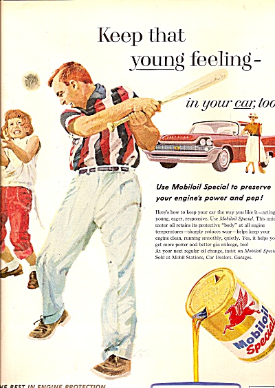 Mobiloil Special Ad 1958