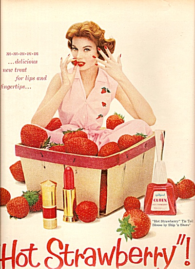 Cutex products ad 1958 (Image1)