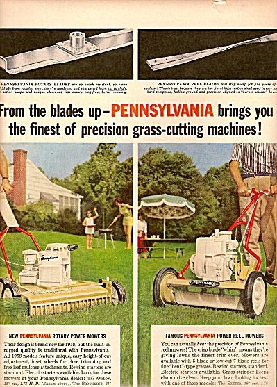 Pennsylvania grass cutting machines ad 1958 (Image1)