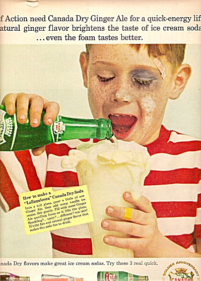 Canada Dry Ginger Ale Ad 1958