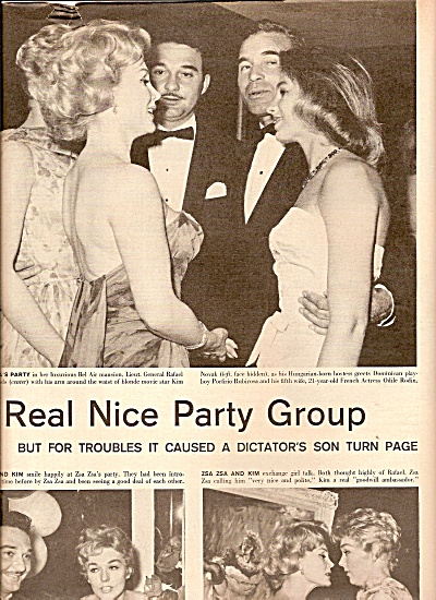 ZSA ZSA GABOR  Holds a party in Bel Air 1958 (Image1)