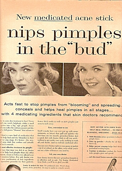 SEntor  medicated acne stick ad 1958 (Image1)