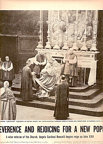 New pope elevated: JOHN XXIII 1958 (Image1)