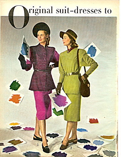 Original suit dress for fall- MODELS 1946 (Image1)