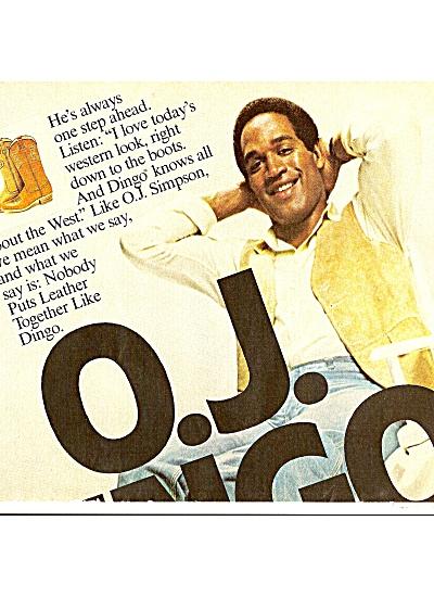 Dingo - O. J. SIMPSON , ad 1979 (Image1)