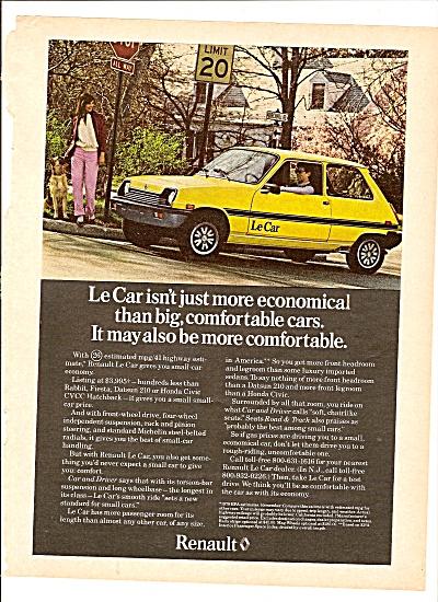 Renault  Le Car ad 1979 (Image1)