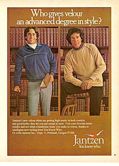 Jantzen velour shirts ad 1979 (Image1)