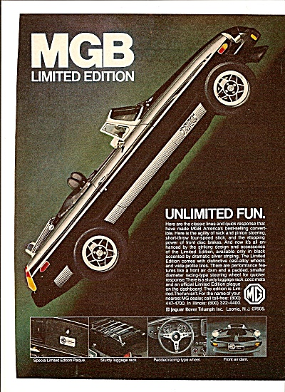 MGB limited edition auto ad 1979 (Image1)
