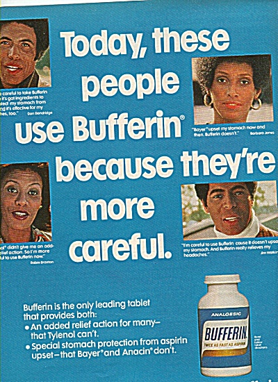 Bufferin analgesic ad  1978 (Image1)