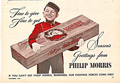 Philip Morris cigarettes ad 1944 (Image1)