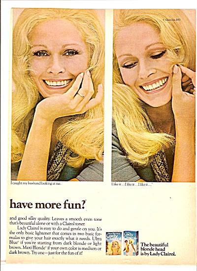 Lady Clairol toner ad 1971 (Image1)