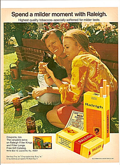 Raleigh cigarettes ad 1971 (Image1)