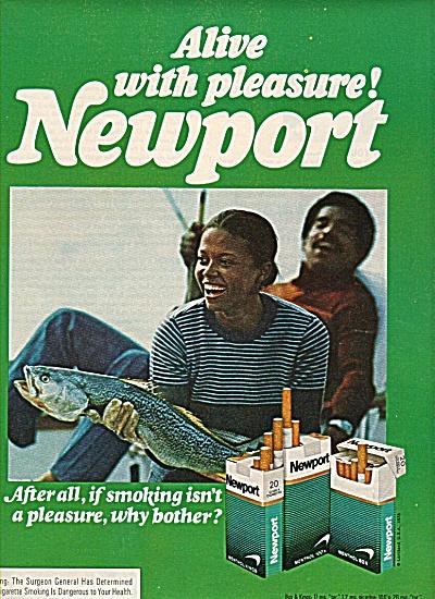 Newport cigarettes ad 1978  BLACK AMERICANA (Image1)