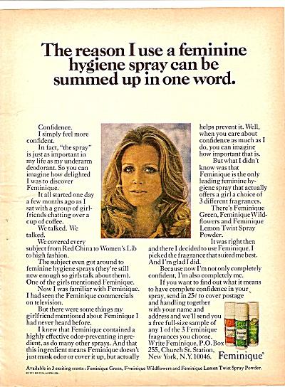 Feminique hygiene spray ad 1971 (Image1)