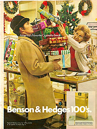Benson & Hedges 100's ad 1971 (Image1)