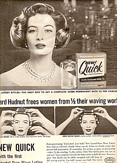 Quick  wave by Richard Hudnut ad 1956 (Image1)